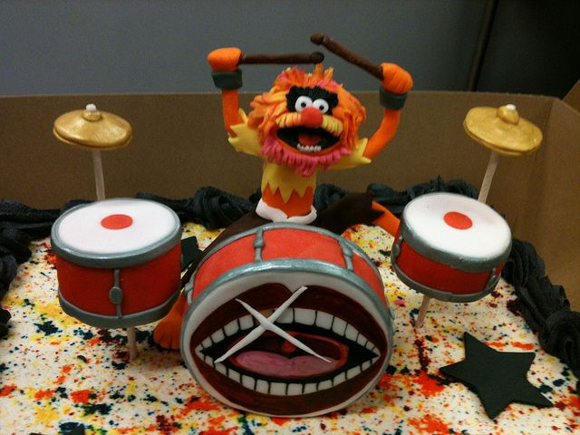 Animal Muppets Drums Drumset Groomscake Cake