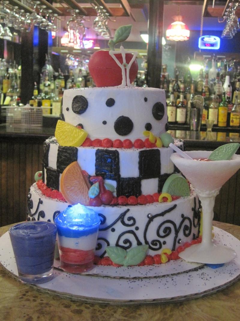 Bartender Birthday Cakes