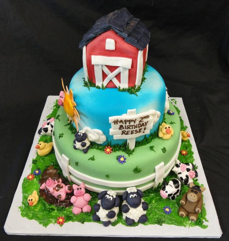 Farm Birthday Cakes