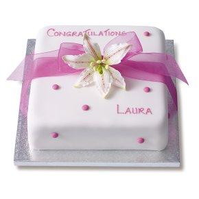 Pink Lily Celebration Cake Sponge Waitrose