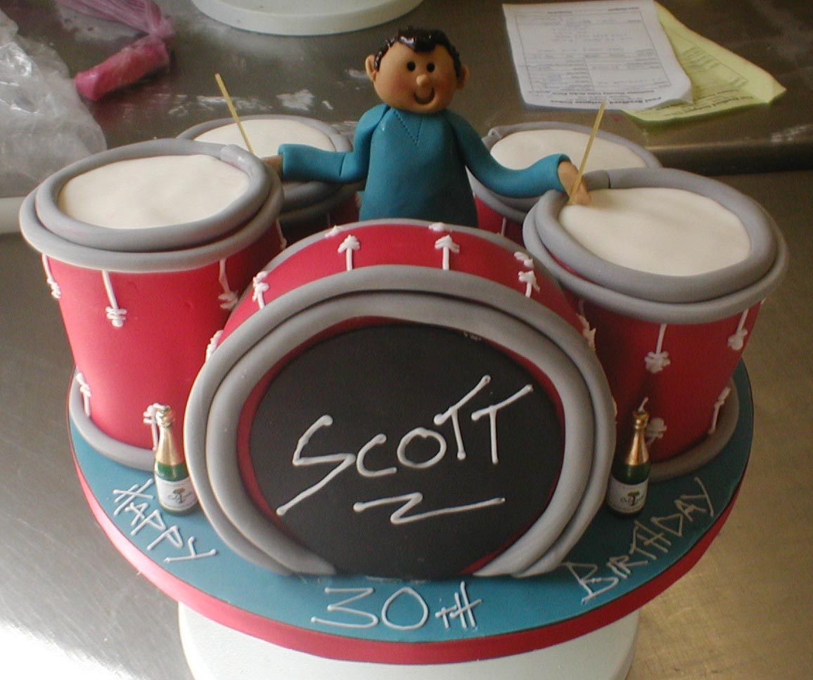Drummer Birthday Cakes