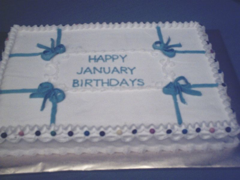 January Birthday Cakes