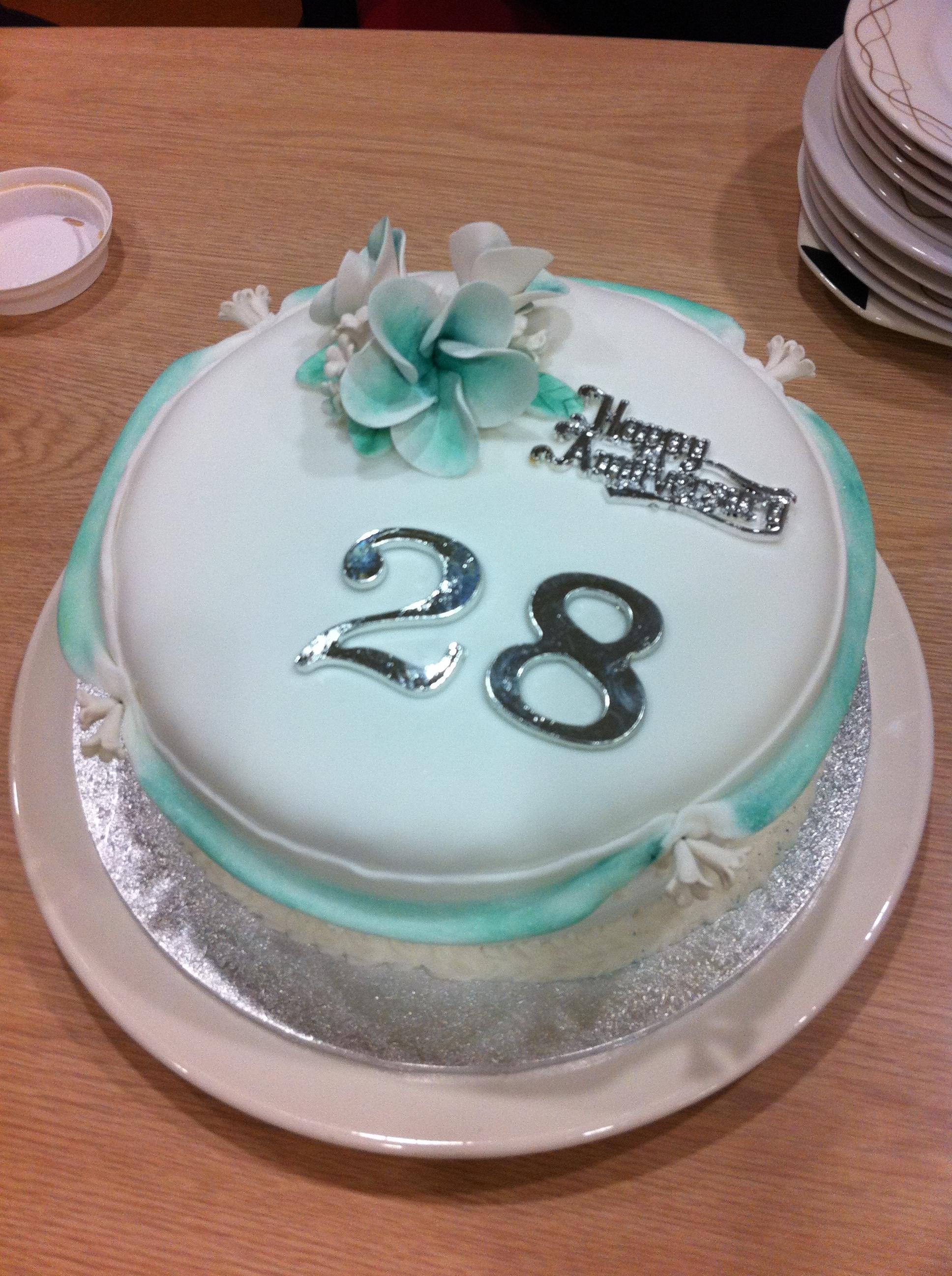 28th Birthday Cake Images Happy