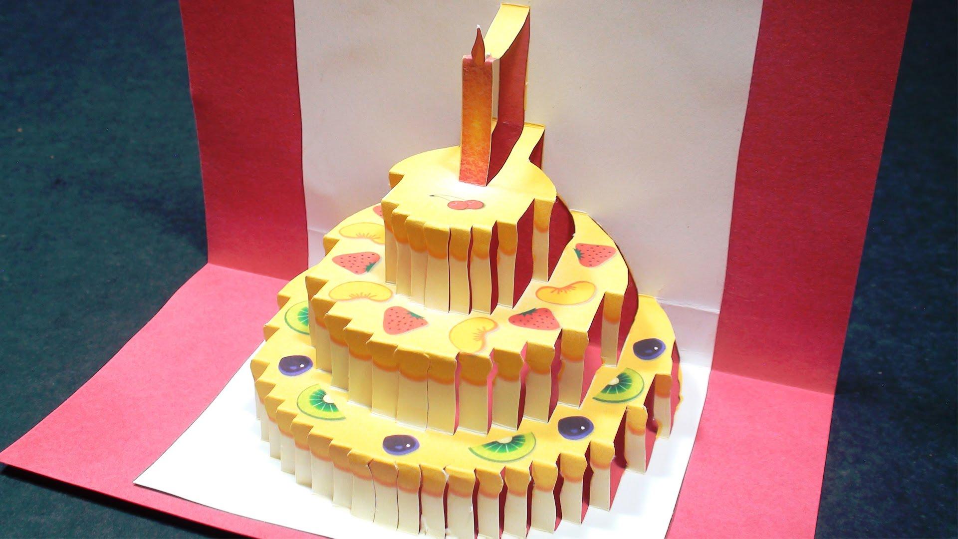 Easy happy birthday origami