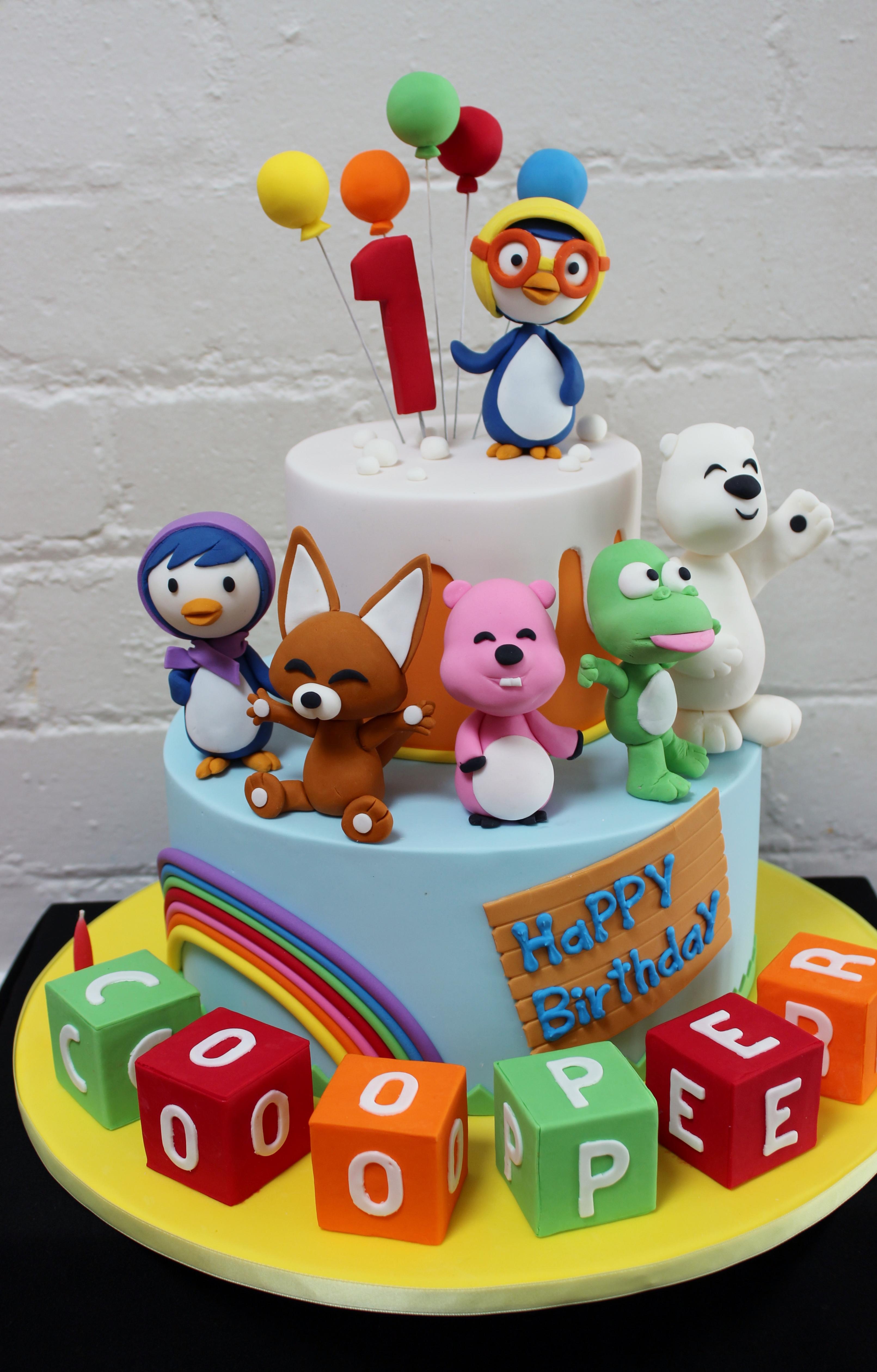 Pororo Birthday Cakes