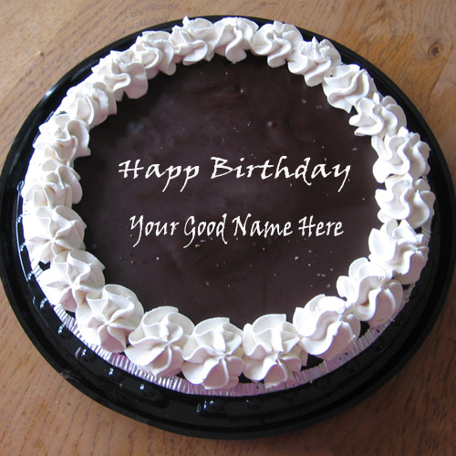 Write Your Name On Chocolate Icecream Birthday Cake Writing Cakes