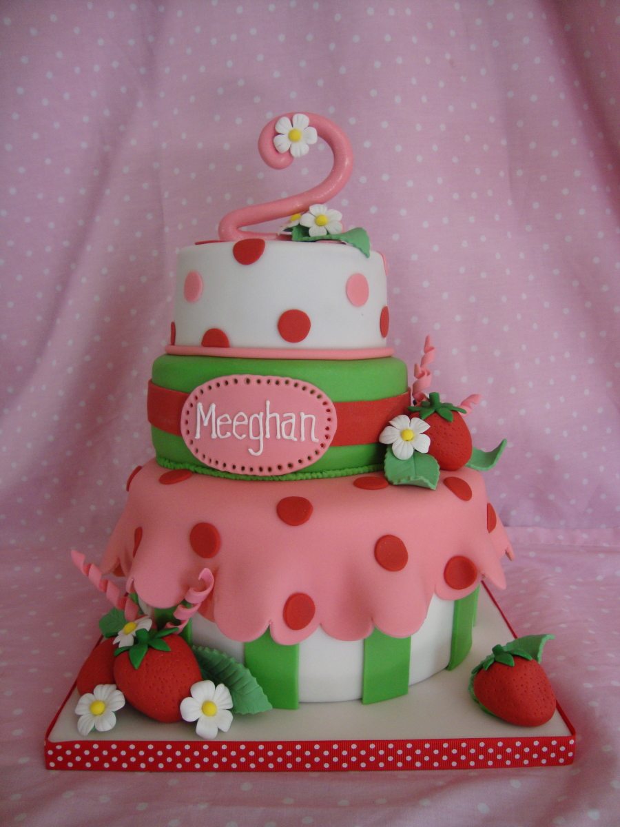 strawberry birthday cake
