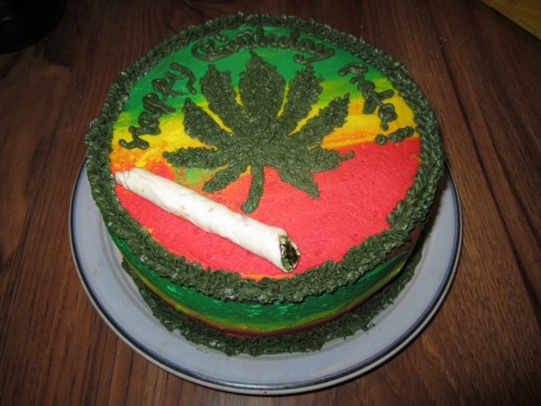 Weed Birthday Cakes
