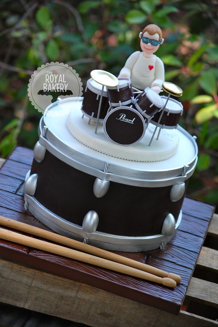 Drum Kit Grooms Cake Cakes Pinterest Birthday
