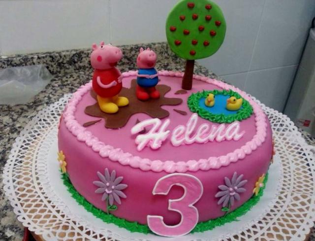 Three Birthday Cakes