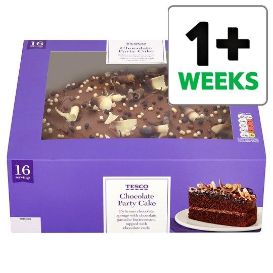 Tesco Birthday Chocolate Cake Groceries