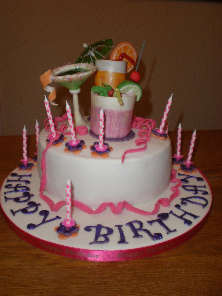 Cocktail Birthday Cakes