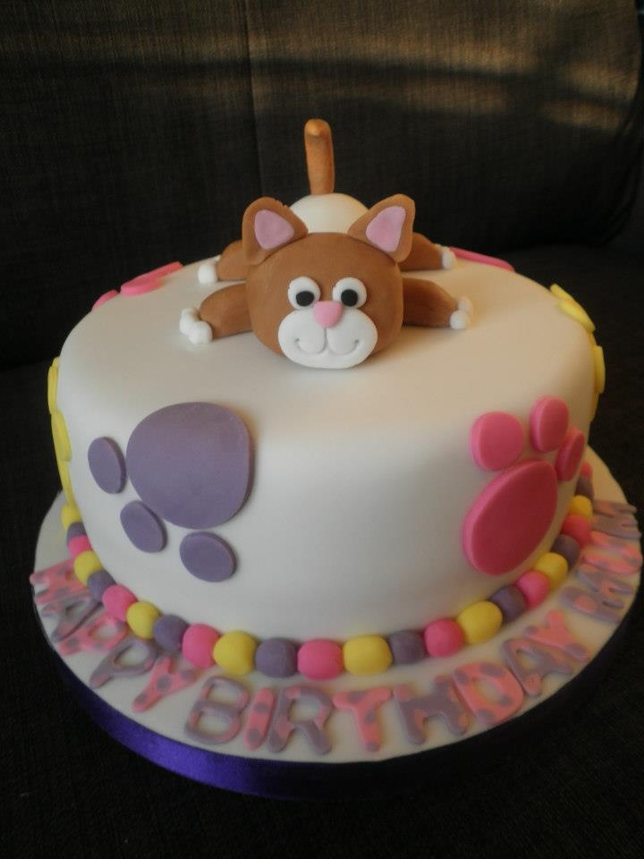 Cat Themed Birthday Cake P Y Cakes Cupcakes And