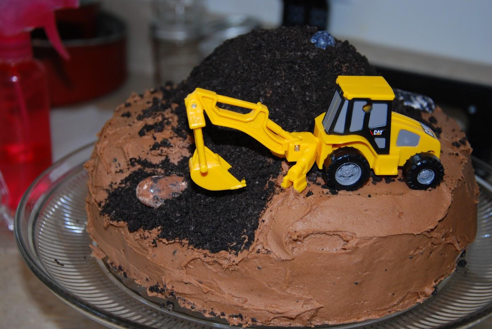 Bulldozer Birthday Cakes