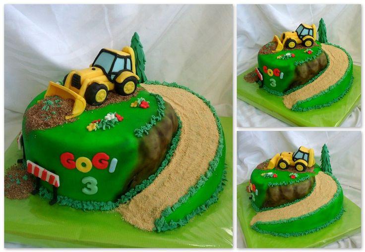 Ideas For Trackhoe Cake