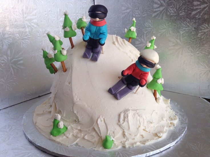Skiing Birthday Cakes
