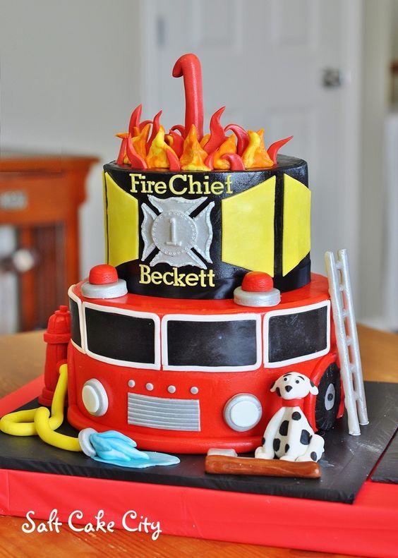 Fire Birthday Cakes