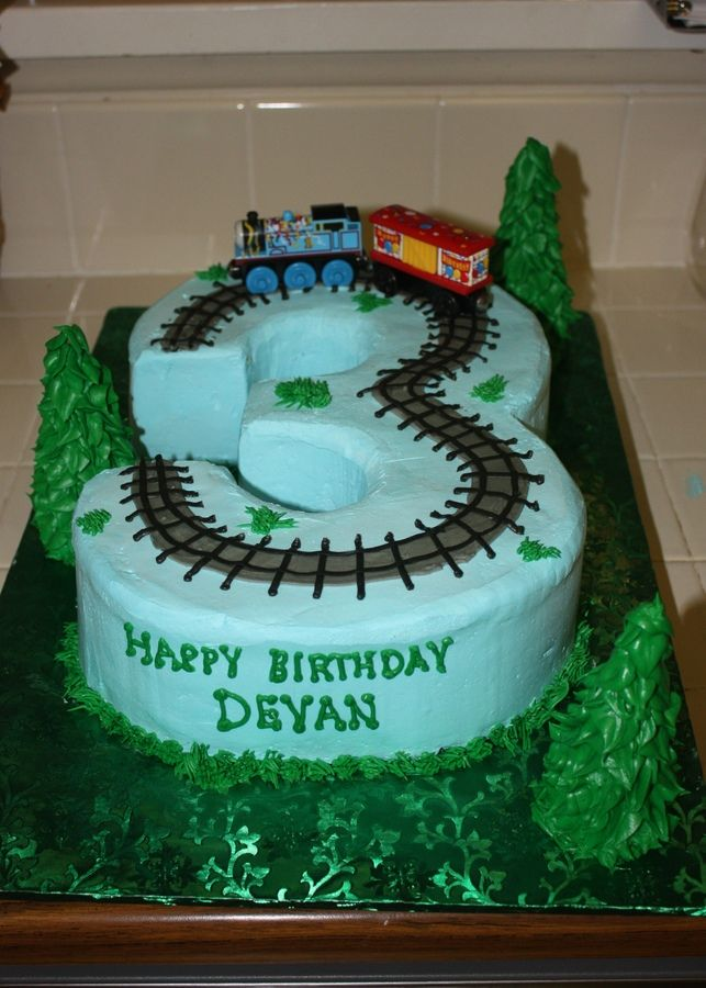 Train Birthday Cake For 3 Year Old Cakes Cupcakes