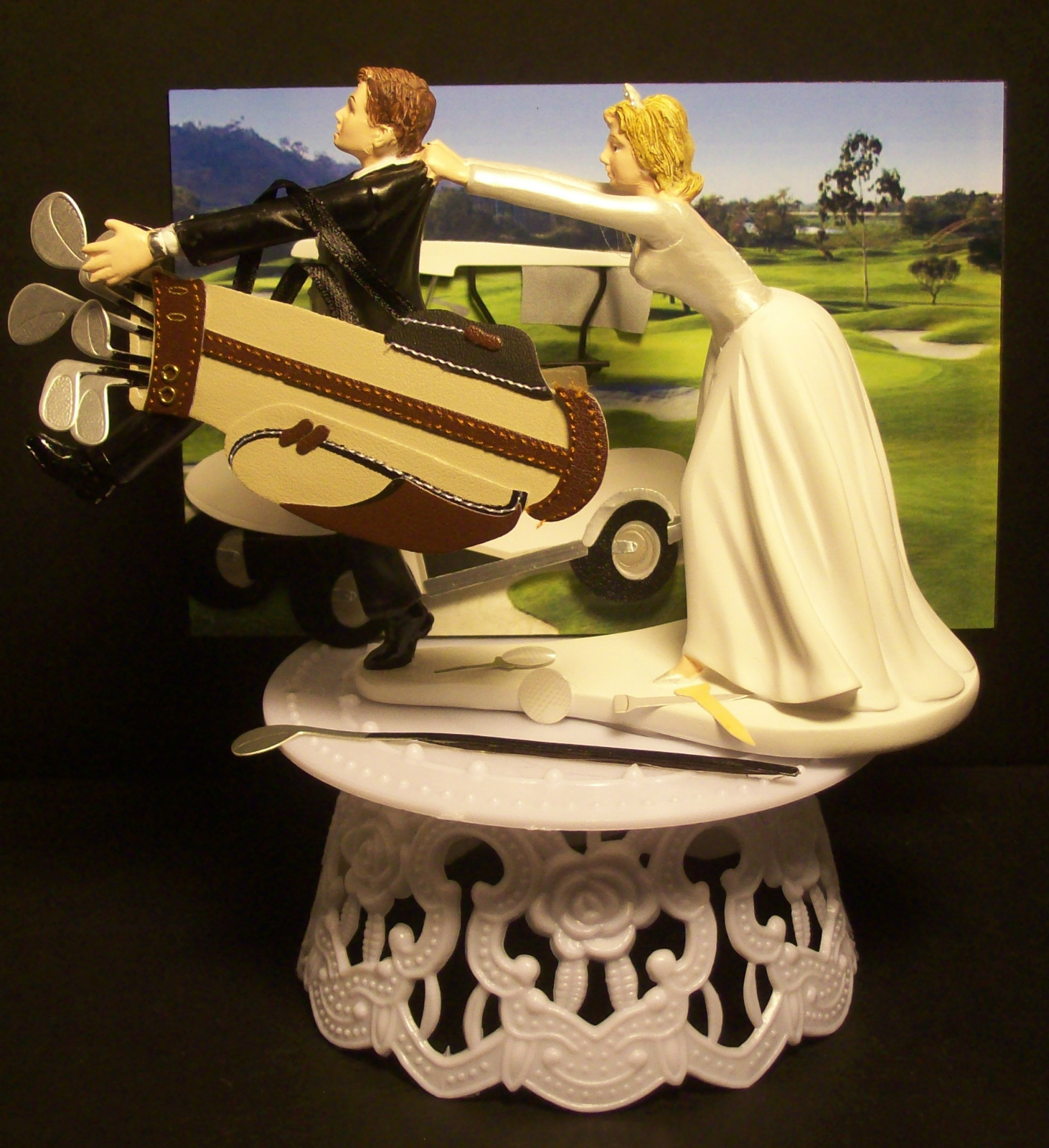 golf wedding cake toppers ireland golf wedding cakes 14851