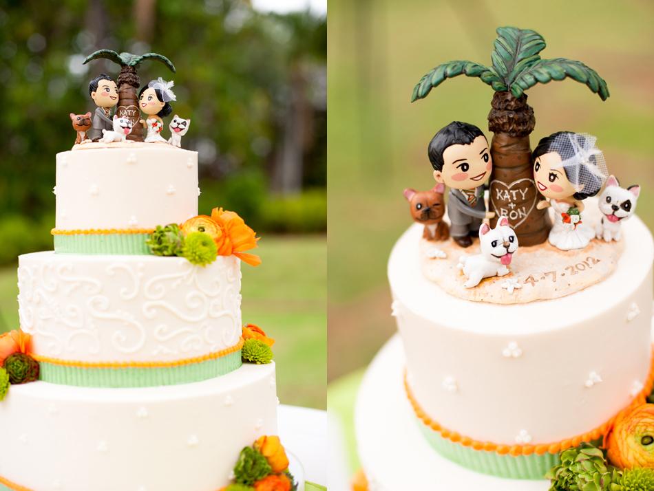 Hawiian Wedding Cakes