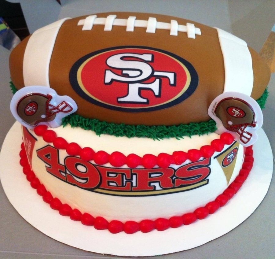 49Ers Birthday Cake CakeCentral