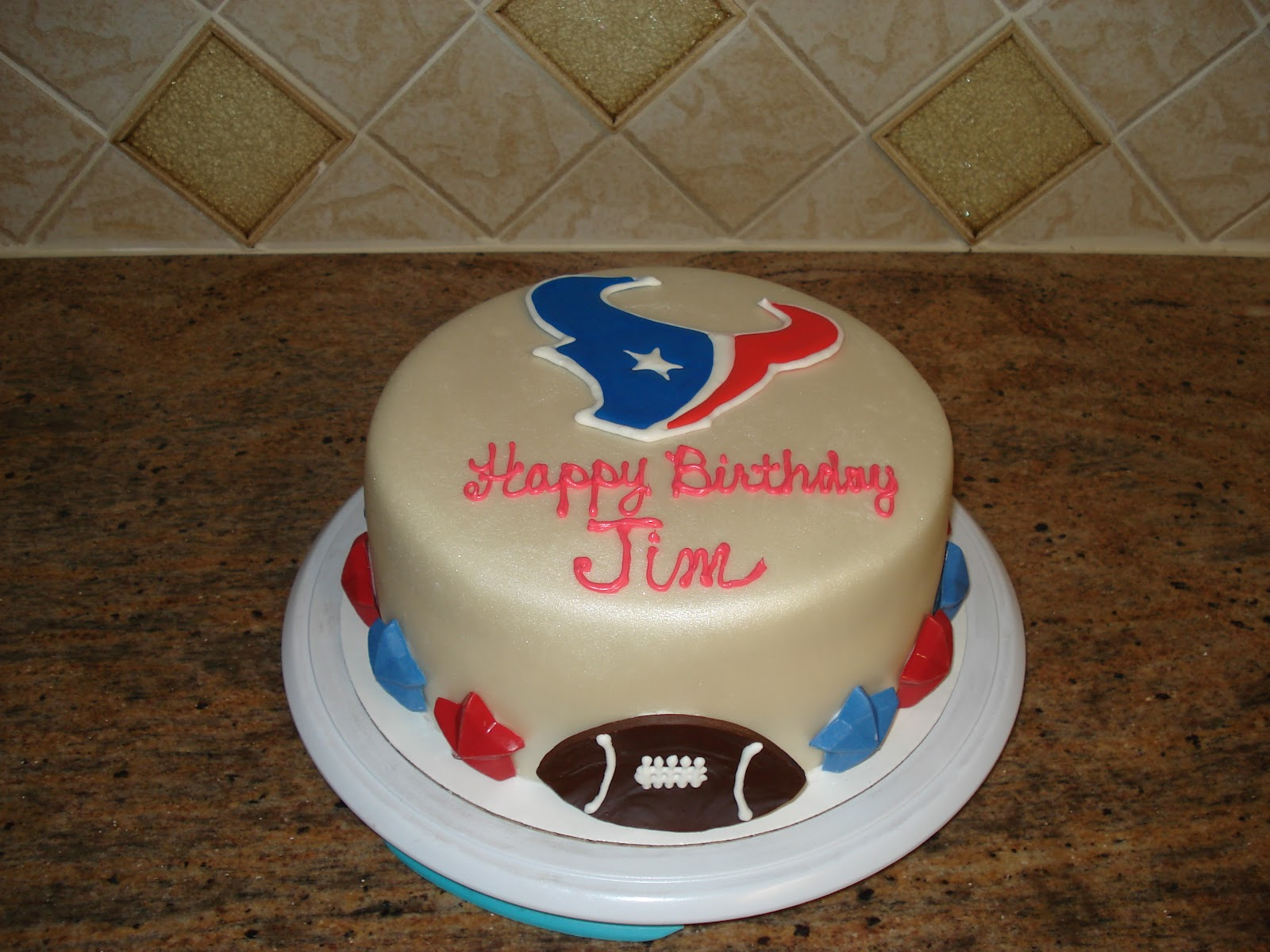 My Cake Hobby Another Texans Birthday
