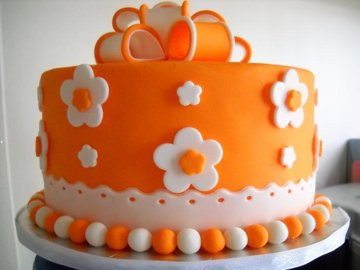 Orange Birthday Cakes