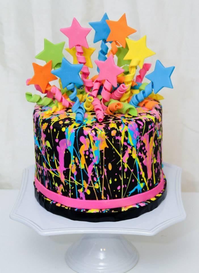 Neon Birthday Cakes