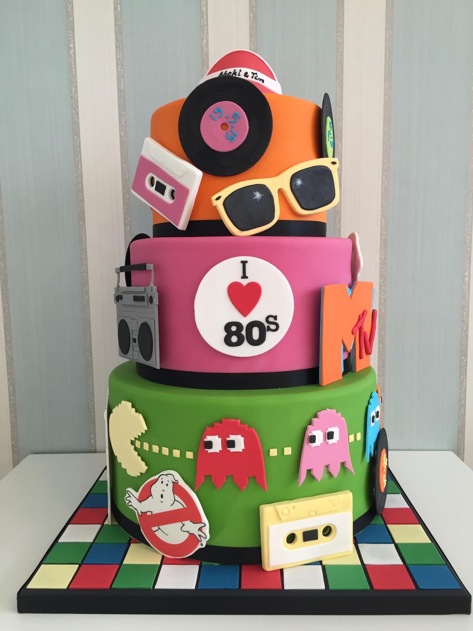 80s Wedding Cakes