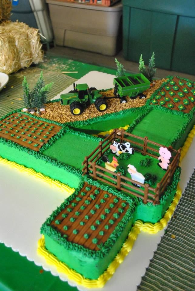 Backhoe Birthday Cakes