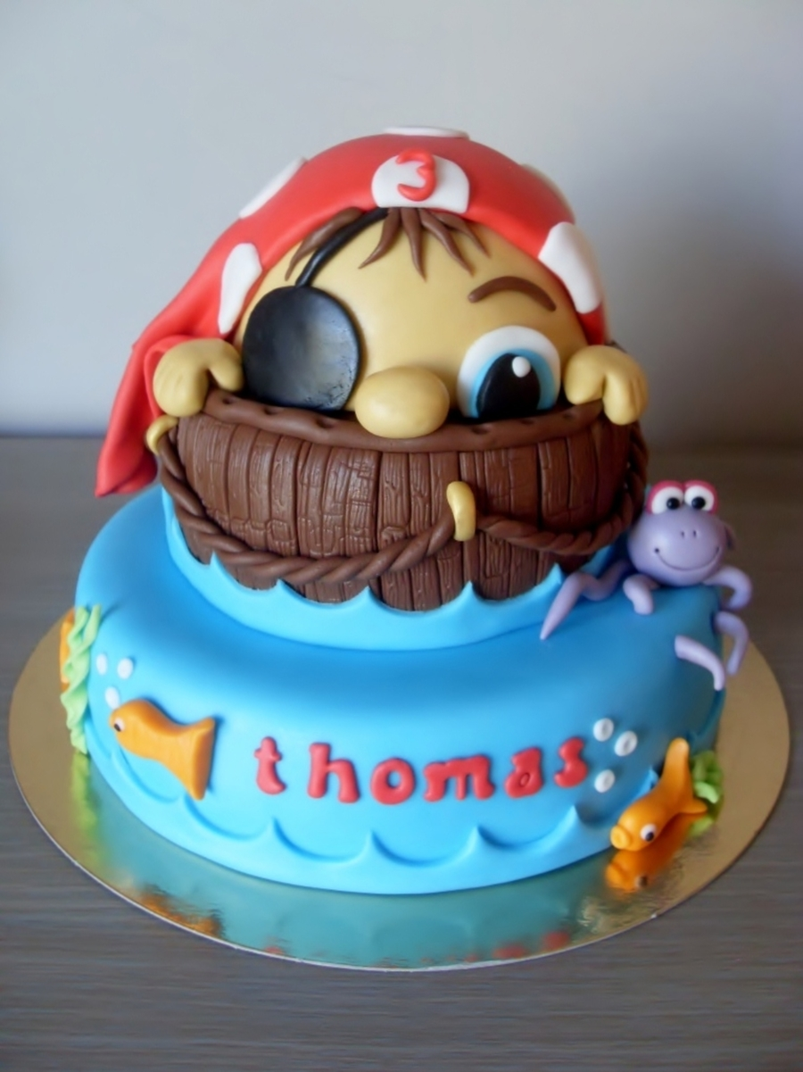 Little Pirate Birthday Cake Cakecentral Com