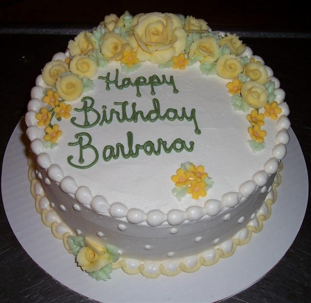 Image result for happy birthday cake to barbara