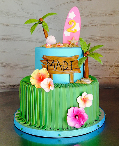 Hawaiian Beach 2nd Birthday Cake Sasa Flickr