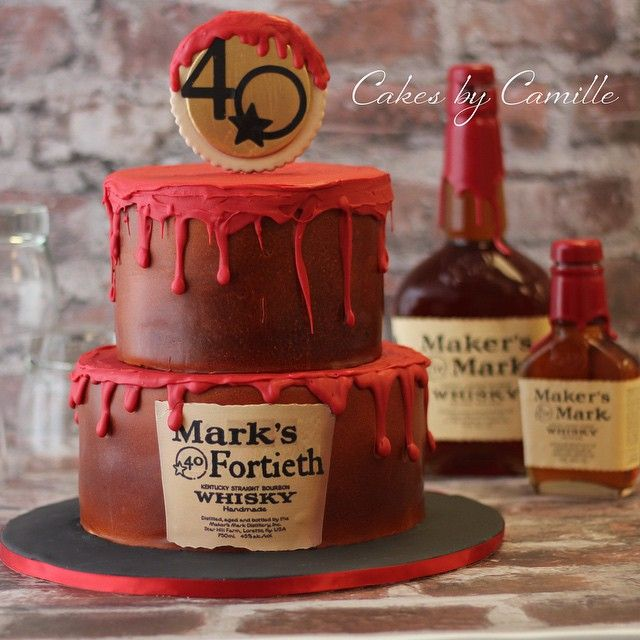 Makers Mark Cake 40th Birthday Grooms Cakes