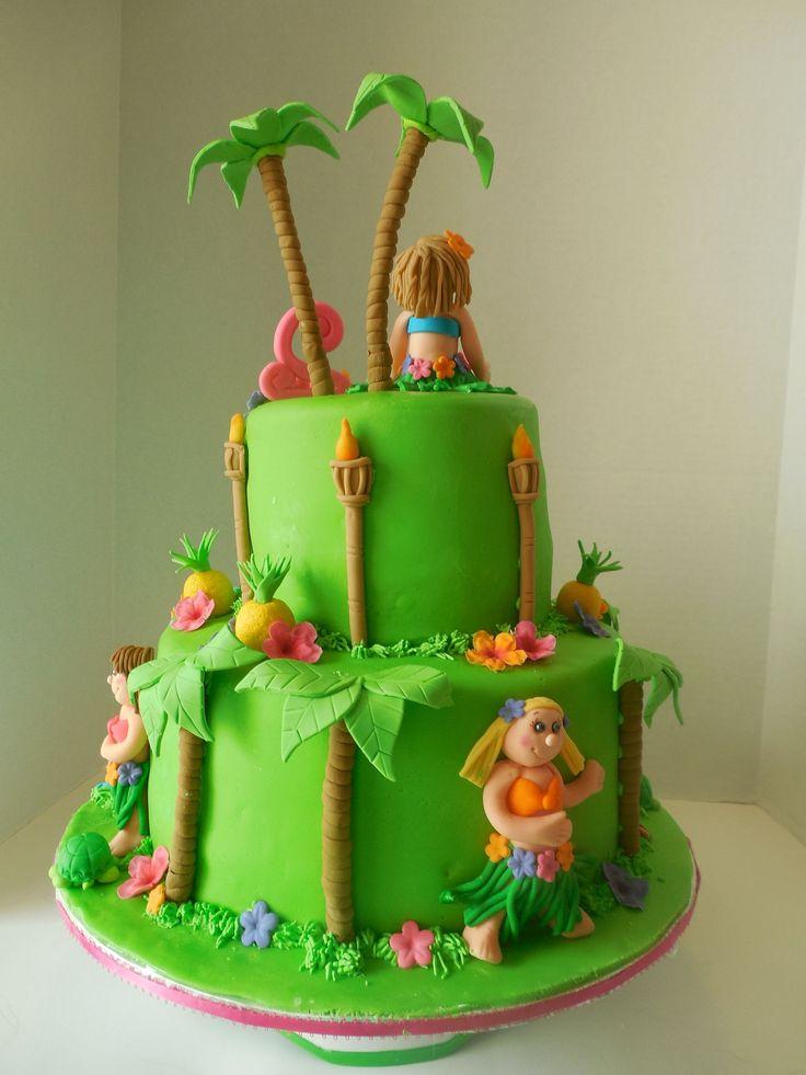 Hula Birthday Cakes