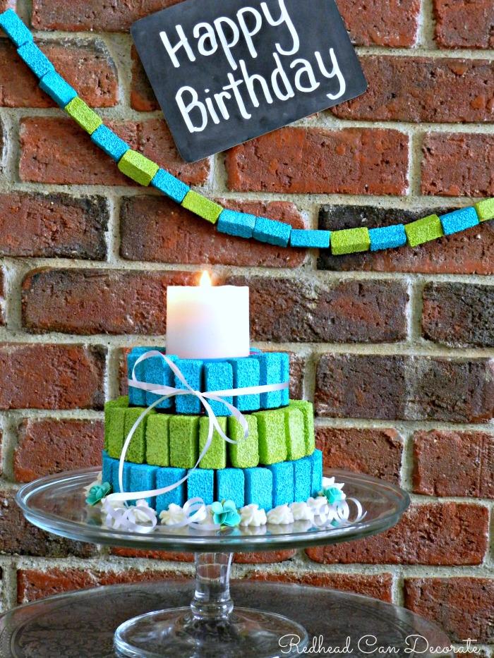 Styrofoam Birthday Cakes