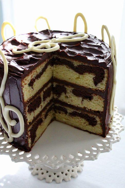 Marble Birthday Cakes