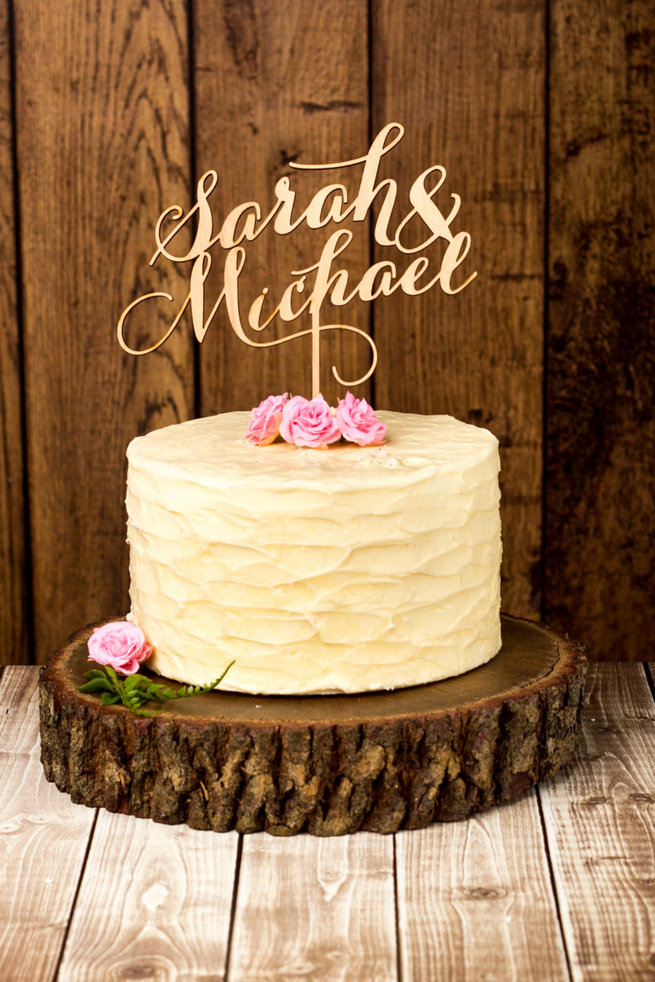 Wood Wedding Cakes