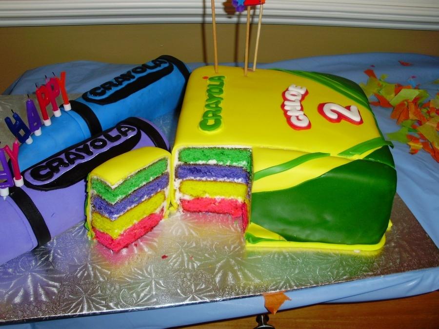 Crayon Birthday Cakes