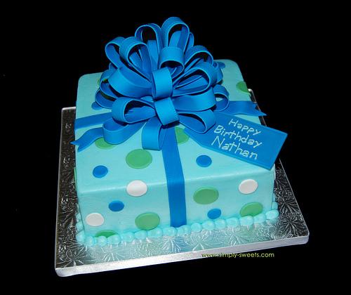 Blue Birthday Cakes
