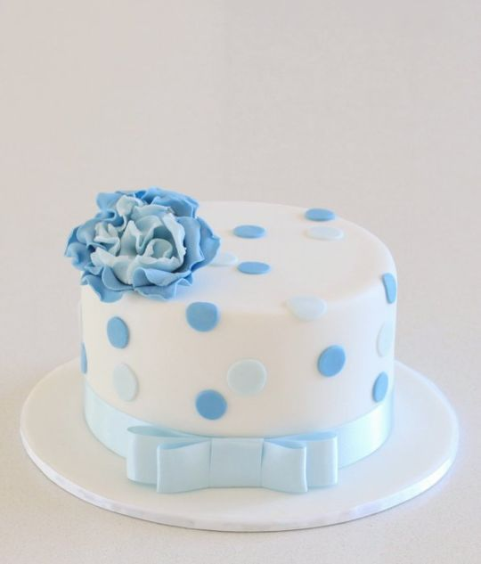 Little Blue Birthday Cake By Alison Lawson Cakes