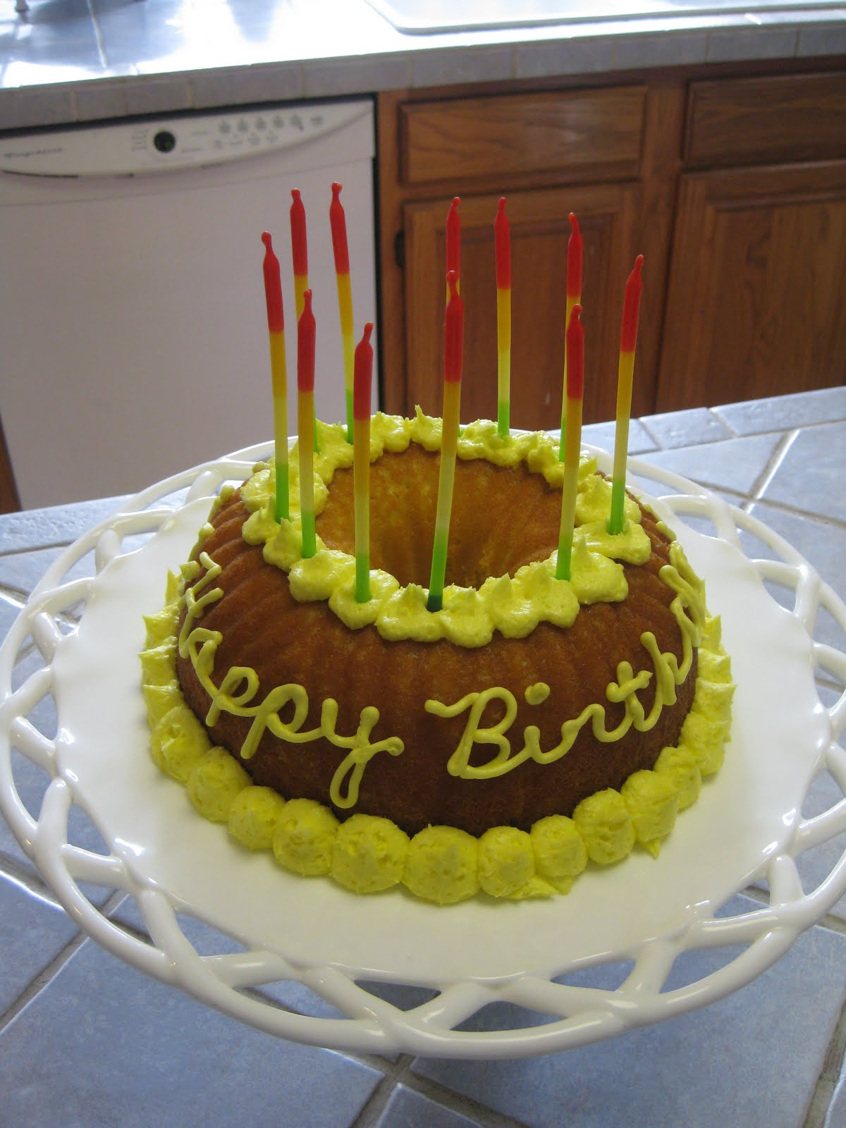 Bundt Birthday Cakes