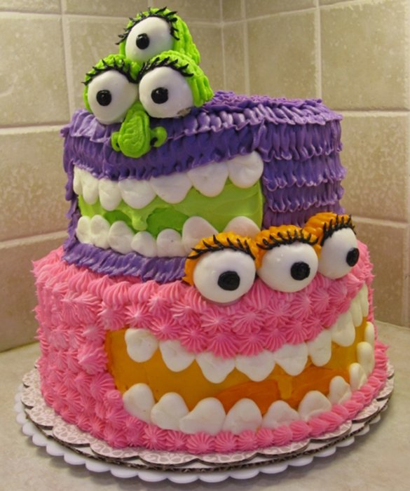 Strange Creative Birthday Cakes For Kids Cake Image In The Word Funny Birthday Cards Online Alyptdamsfinfo