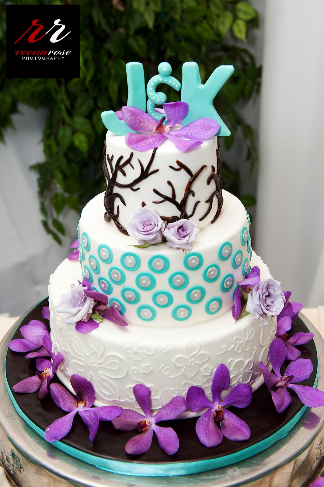 Turquoise Wedding Cake Reference For Decoration