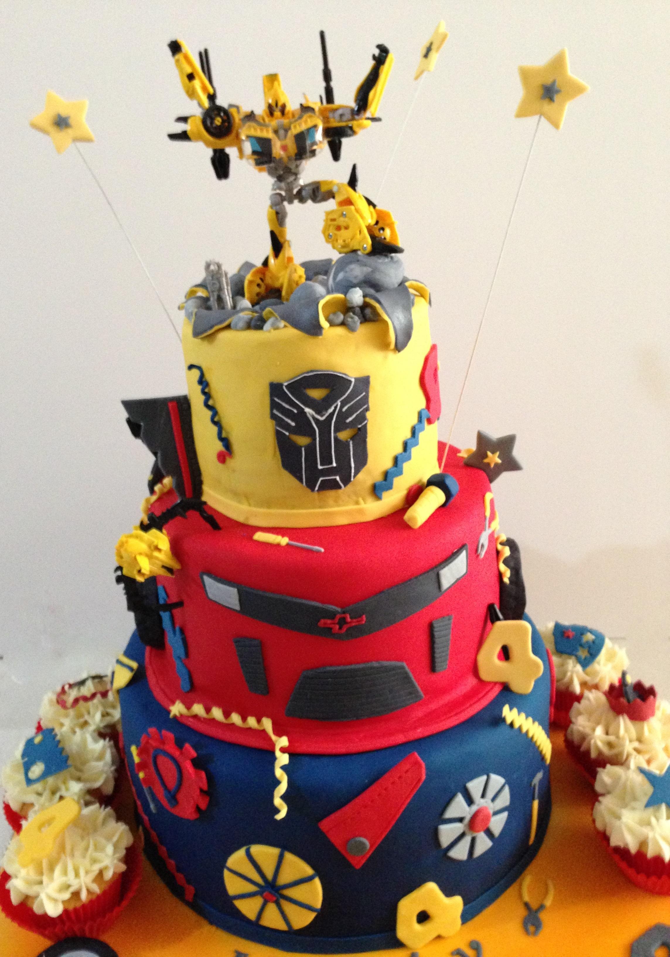 Transformer Birthday Cakes