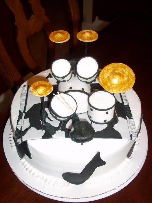 Drum Set Birthday Cake By Jackie CakesDecor