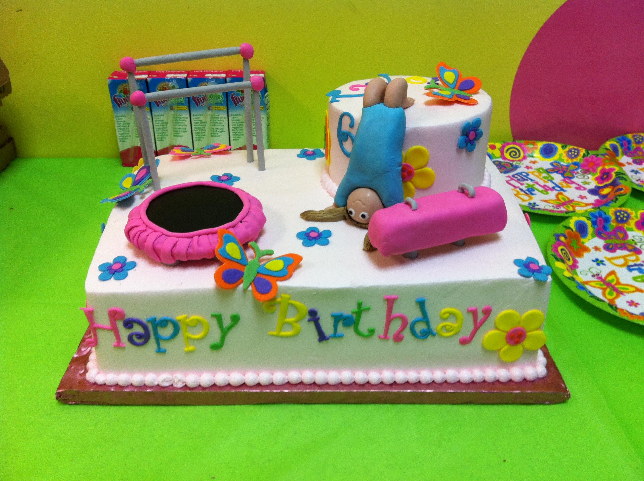 Gymnastic Birthday Cakes