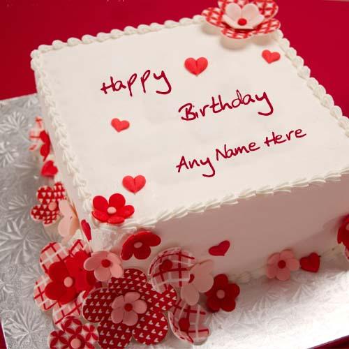 Write Your Name On Gift Birthday Cake