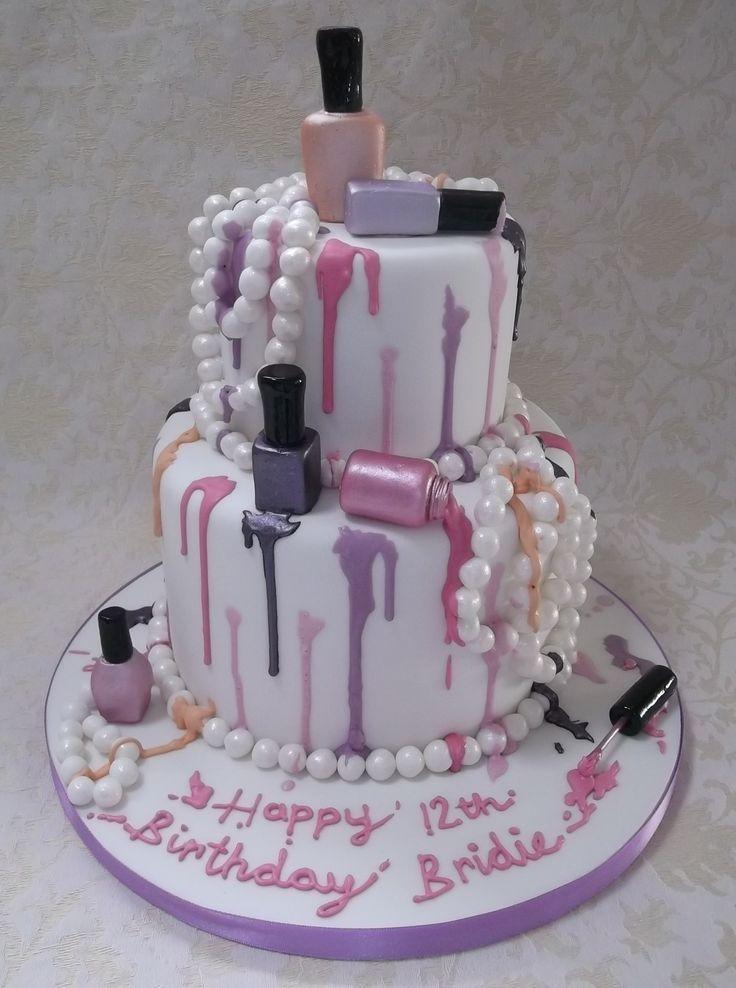 Girly 17 Birthday Cake Designs