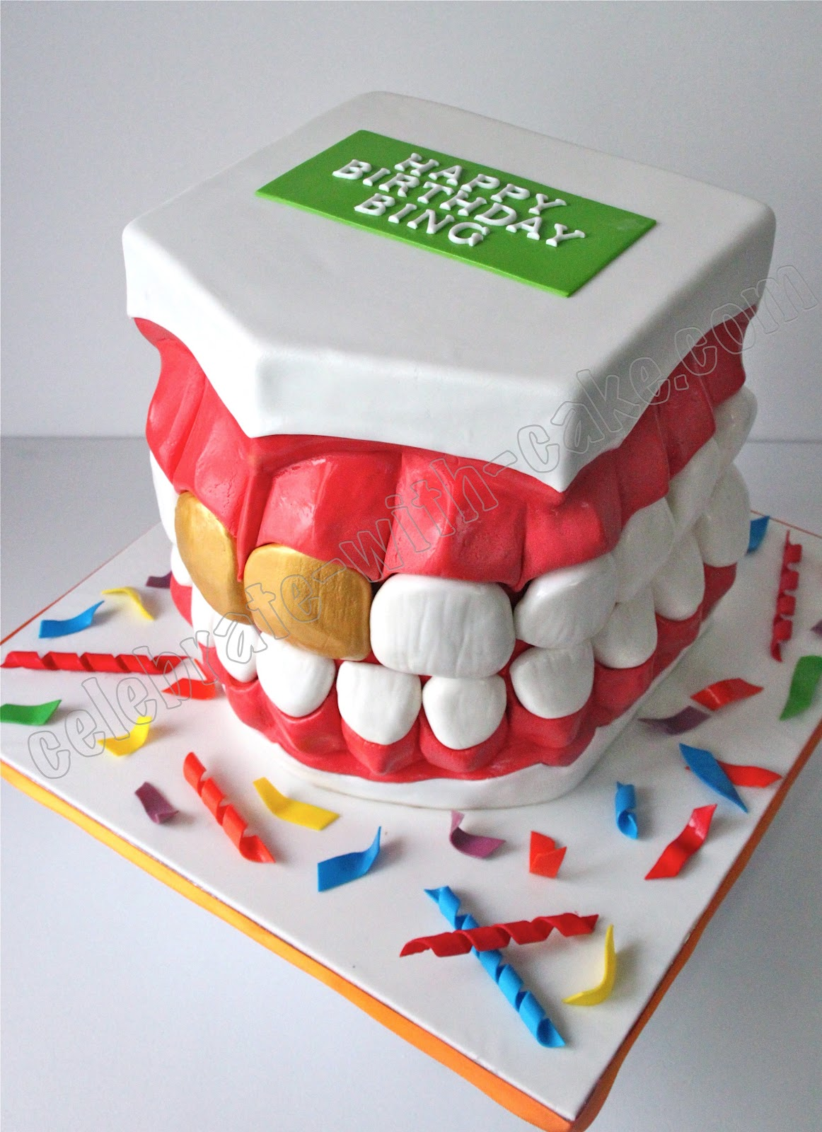 Celebrate With Cake Dentist Teeth Mould